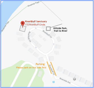 Map to RiverBluff Sanctuary